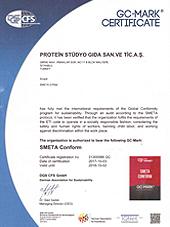 Alman Federal Sürdürülebilirlik Derneği - SMETA CONFORM Sertifikamız