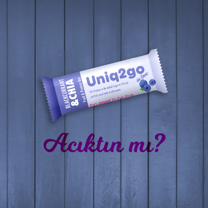 Uniq2go in love – Frenk Üzümlü ve Chialı Protein Bar