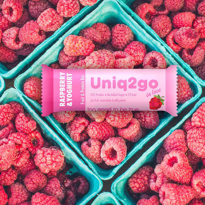 Uniq2go in love – Raspberry & Yoghurt Protein Bar